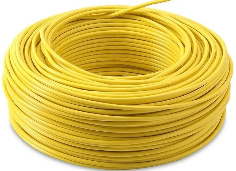 CABLE SOLIDO THHN #12AWG. AMARILLO